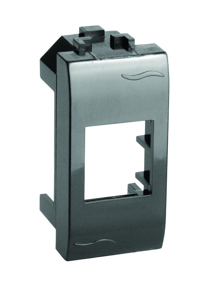 Адаптер для информационных разъемов SIEMON, черный, 1мод. Brava DKC 77608N DKC