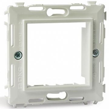 Каркас на 2 модуля (одноместный) без лапок, белый, RAL9010 Brava DKC 75023W DKC