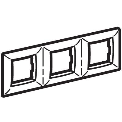 Рамка на 2+2+2 модуля (трехместная), слоновая кость, RAL9001 Brava DKC 75013O DKC