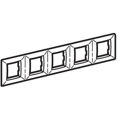 Рамка на 2+2+2+2+2 модуля (пятиместная), слоновая кость, RAL9001 Brava DKC 75015O DKC
