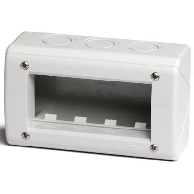 Модульная настен. коробка для эл/устан. изделий VIVA, IP40, серая, 4мод. DKC 54740 DKC