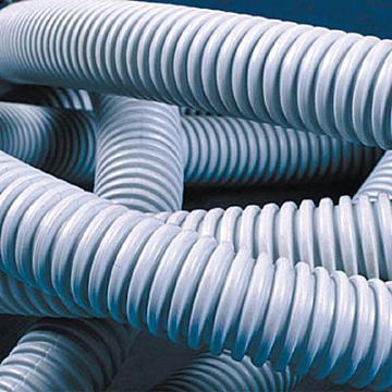 Труба ПВХ гибкая гофр. д.16мм, лёгкая с протяжкой, 100м, цвет серый Октопус DKC 91916 DKC