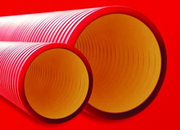Труба двустенная для электропроводки и кабельных линий жесткая, кольцевая жесткость – 8 кПа, отрезок 160920-8K DKC