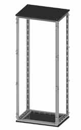 Сборный шкаф CQE, без двери и задней панели, 1400 x 1200 x 500мм RAMblock DKC R5CQE14125S DKC
