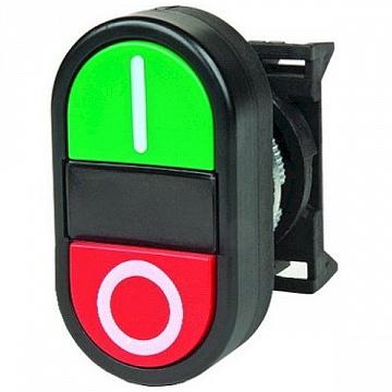Кнопка двойная плоская Quadro DKC ABFTM DKC