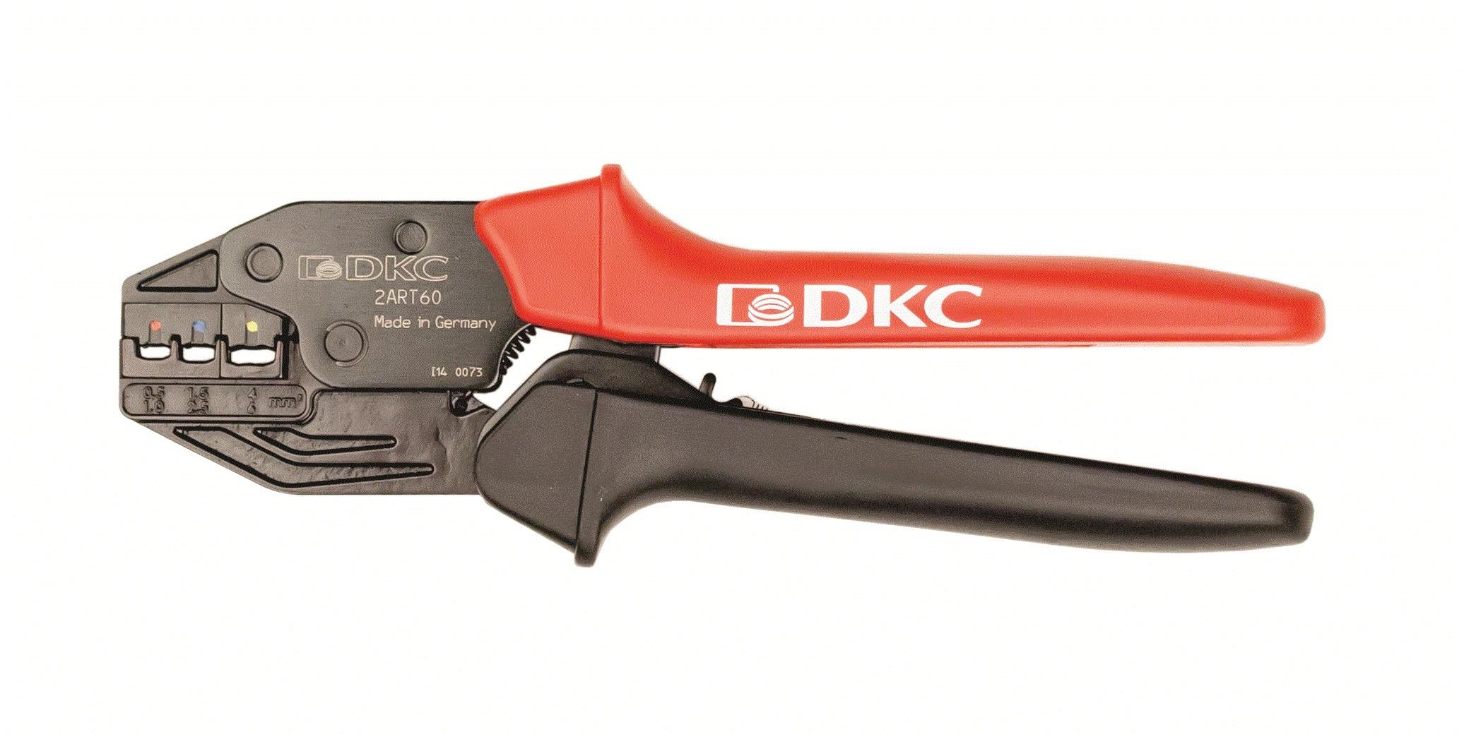 Клещи для обжима изолированных наконечников 0,25-6мм.кв Quadro DKC 2ART60 DKC