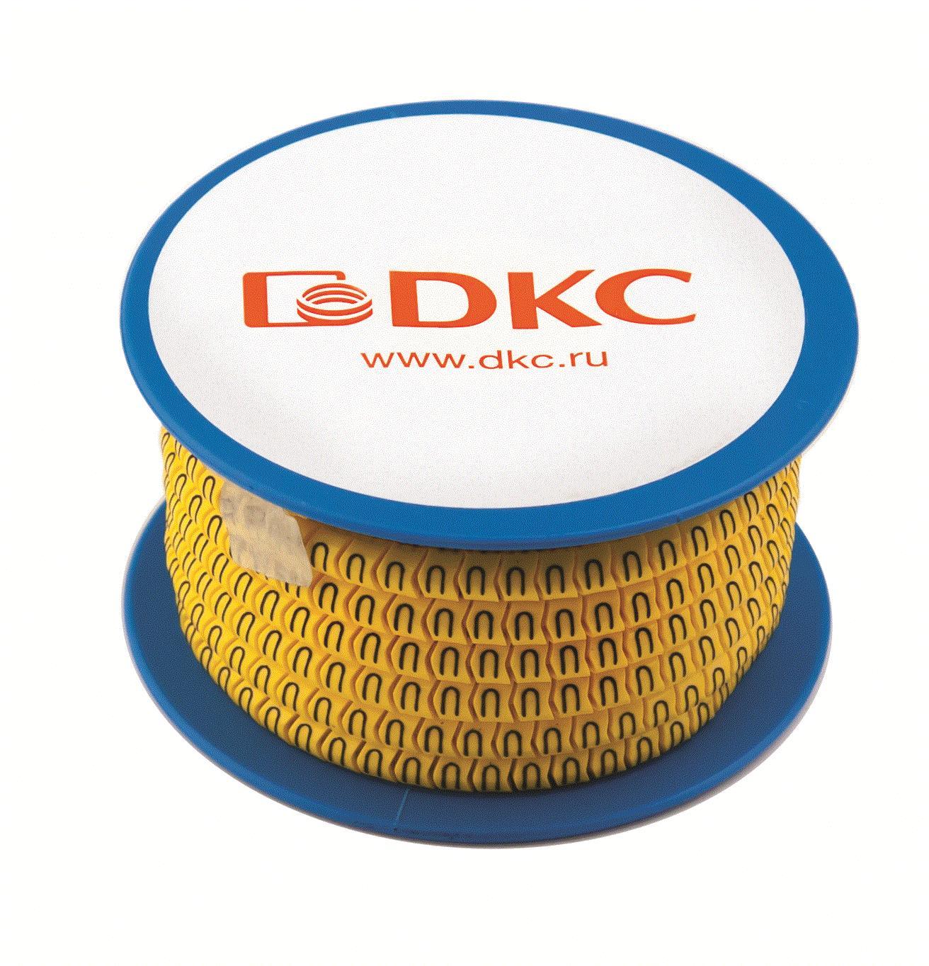 Колечки с черными буквами S на желтом фоне Quadro DKC AZO2SSBY DKC