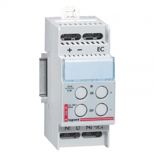 Дистанционно управляемый светорегулятор - для люминесцентных ламп с электорнными баластами 1-10 В - 600 ВА - 2 модуля 003658 Legrand