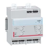 Дистанционно управляемый светорегулятор - для люминесцентных ламп с электорнными баластами 1-10 В - 1000 ВА - 4 модуля 003660 Legrand