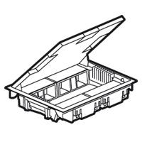Напольная коробка с глубиной 65 мм - неукомплектованная - 8х2 модуля - антикоррозийное покрытие 089625 Legrand