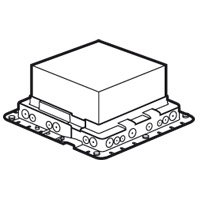 Пластиковая монтажная коробка - для встраивания напольных коробок на 24 модуля или с глубиной 65 мм на 16 модулей 089632 Legrand