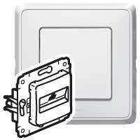 Информационная розетка - Cariva - RJ 45 - категория 6 UTP - белый 773641 Legrand