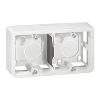 Накладная монтажная коробка - Mosaic - для суппорта Кат. № 0 802 52 - гл. 40 мм - 4/5 или 2x2 модуля - гориз. монтаж 080285 Legrand