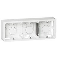 Накладная монтажная коробка - Mosaic - для суппорта Кат. № 0 802 53 - гл. 40 мм - 6/8 или 3x2 модуля - гориз. монтаж 080286 Legrand
