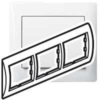 Рамка - Galea Life - 3 поста - горизонтальный монтаж - White 771003 Legrand