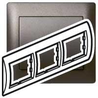 Рамка - Galea Life - 3 поста - горизонтальный монтаж - Dark Bronze 771203 Legrand
