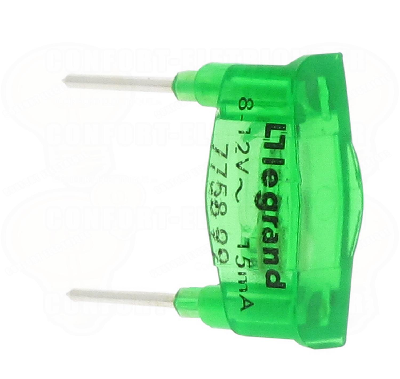 G.L.Лампа 8-12В 15мА зел. 775899 Legrand