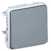 Однополюсный переключатель на два направления - Программа Plexo - серый - 10 AX 069511 Legrand