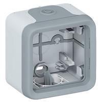 Коробка для накладного монтажа с мембранными сальниками - Программа Plexo - серый - 1 пост 069651 Legrand
