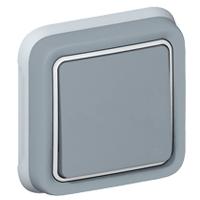 Однополюсный переключатель на 2 направления - Программа Plexo - серый - 10 AХ - 250 В 069811 Legrand