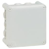 Коробка квадратная - 130x130x74 - Программа Plexo - IP 55 - IK 07 - серый - 10 кабельных вводов - 650°C 092032 Legrand