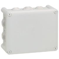 Коробка прямоугольная - 180x140x86 - Программа Plexo - IP 55 - IK 07 - серый - 10 кабельных вводов - 750°C 092052 Legrand