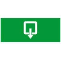 Информационная табличка - для автономных эвакуационных светильников - выход вниз и направо - 310х112 мм 660868 Legrand