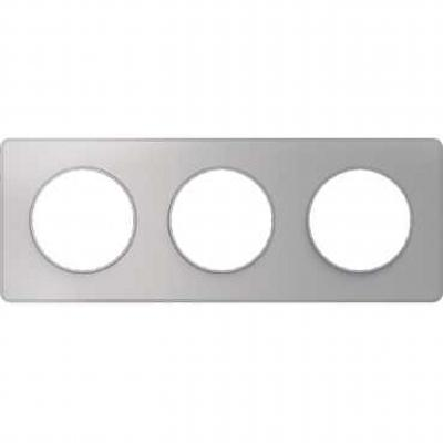 Рамка 3 пост алюминий ODACE S53P806 Schneider Electric