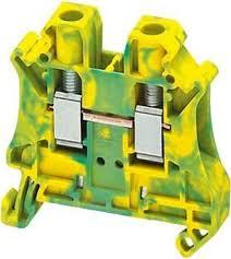 Клеммник винтовой проходной, сечением провода 2,5мм2, 2 точки подключения, желто-зеленый NSYTRV22PE Schneider Electric