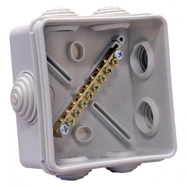 Коробка уравнивания потенциалов КУП 8 зажимов 80х80х43 SKUP-7-55 Texenergo