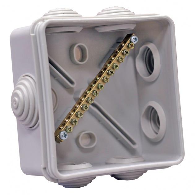 Коробка уравнивания потенциалов КУП 63А 14присоед. IP55 100х100х50мм SKUP-14-55 Texenergo