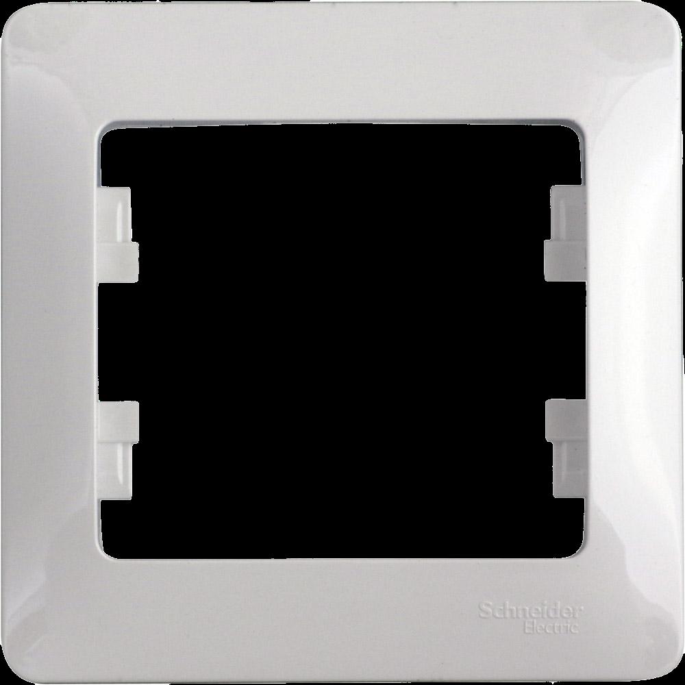 Glossa 1-постовая рамка, Белый GSL000101 Schneider Electric