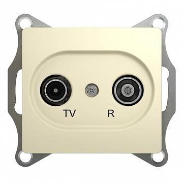 GLOSSA TV-R РОЗЕТКА одиночная 1DB, БЕЖЕВЫЙ GSL000294 Schneider Electric