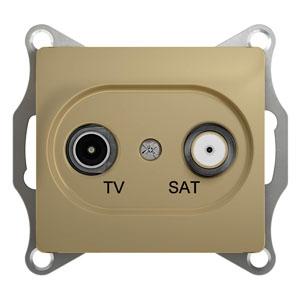 GLOSSA TV-SAT РОЗЕТКА проходная 4DB, ТИТАН GSL000498 Schneider Electric