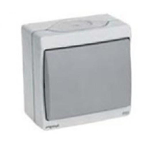 Одноклавишный выключатель о/у ,серый, в сборе IP55 ENN35721 Schneider Electric