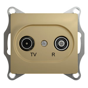GLOSSA TV-R РОЗЕТКА одиночная 1DB, ТИТАН GSL000494 Schneider Electric