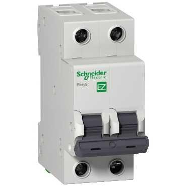 Автоматический выключатель EASY 9 2п 25А С 4,5кА EZ9F34225 Schneider Electric