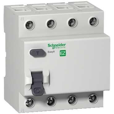 УЗО EASY 9 4п 63A/30мА AC 0,5/4,5кА EZ9R34463 Schneider Electric