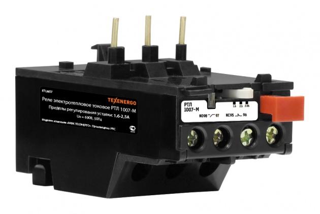 Реле тепловое РТЛ 1007-М (1,6-2,5А) RTLM07 Texenergo
