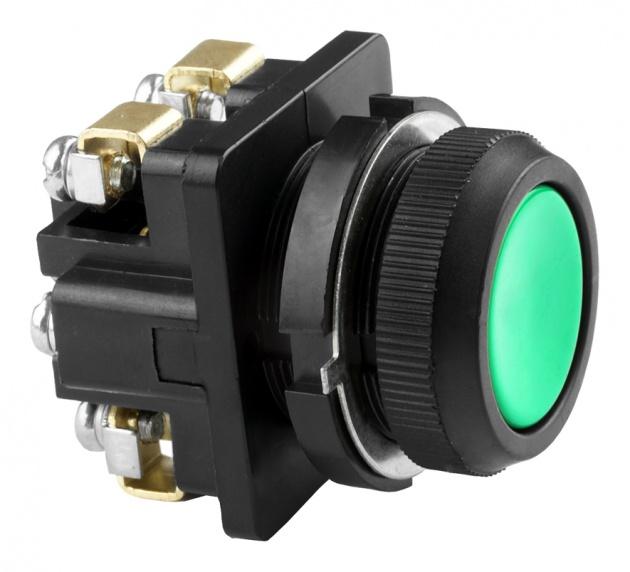 Выключатель кнопочный  КЕ 011/2 зеленый 1з+1р B0112-11G Texenergo