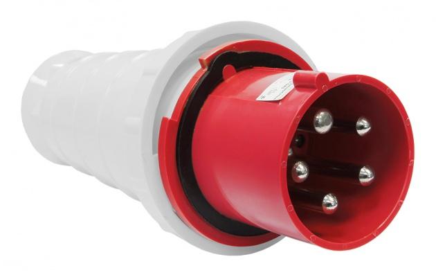 Вилка переносная 045 3Р+PE+N 125А IP54 SE045-125Q Texenergo