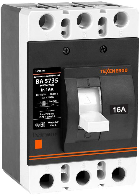 Автоматический выключатель ВА 5735-340010 16А 35кА SAV57-016 Texenergo