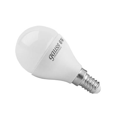 Лампа светодиодная Gauss Elementary шар 6W E14 2700K LD53116 Gauss