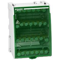 Распределительный блок Linergy DS Винтовой 4 полюса 100А 28 отверстий LGY410028 Schneider Electric