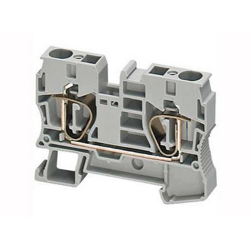 Клеммник пружинный проходной 2,5мм2 2 точки серый NSYTRR22 Schneider Electric
