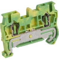 Клеммник пружинный проходной, сечением провода 2,5мм2, 2 точки подключения, PEN NSYTRR22PE Schneider Electric