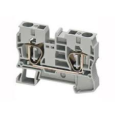 Клеммник пружинный проходной 4мм2 2 точки серый NSYTRR42 Schneider Electric