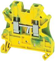 Клеммник винтовой с заземлением, сечением провода 4мм2, 2 точки подключения, PEN NSYTRV42PE Schneider Electric