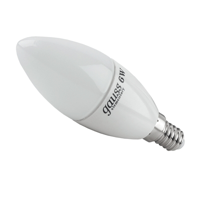 Лампа Gauss Elementary светодиодная свеча 6W E14 2700K LD33116 Gauss