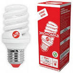 Энергосберегающая лампа ECONOM SPC 15W E27 Т2 теплый свет LKsmT2SPC15wE2727eco Космос